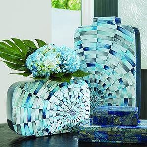 Radial Tiles Large Vase