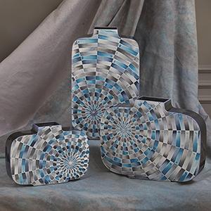 Radial Tiles Medium Vase
