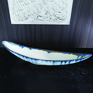 Canoe Glass Drip Bowl