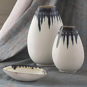 Glass Drip Small Vase