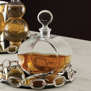 Clear Round Glass Decanter