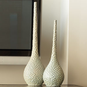 Chiseled Birds Large Egg Vase