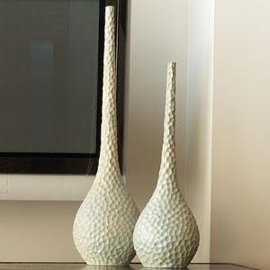 Chiseled Birds Small Egg Vase
