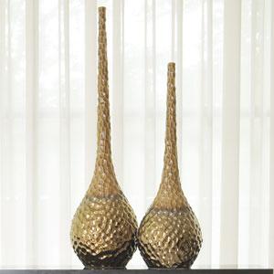 Chiseled Blonde/Bronze Large Vase
