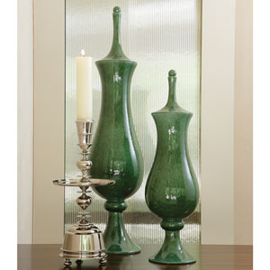 Tower Large Emerald Jar