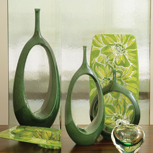 Open Oval Ring Emerald Medium Vase