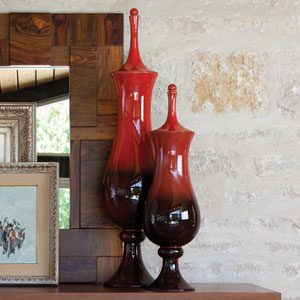 Tower Large Ruby Jar