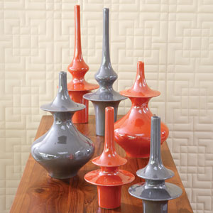 Minaret Medium Orange Vase