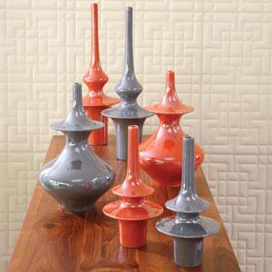 Minaret Medium Gray Vase