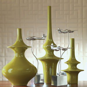 Minaret Medium Green Vase