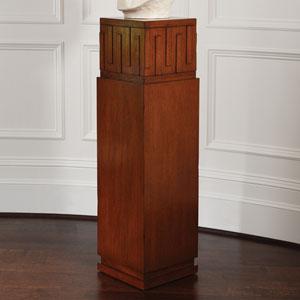 French Key Dark Oak Pedestal