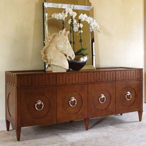 French Key Dark Oak Everything Cabinet