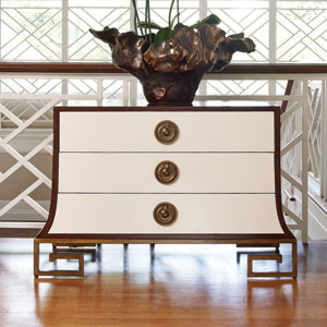 Sabre Ivory and Walnut Chest