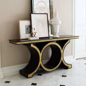 Link Black and Gold Leaf Console
