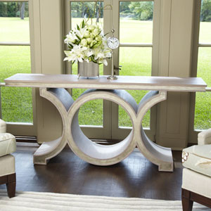 Link Gray and Silver Leaf Console