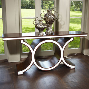 Link Walnut and Ivory Console