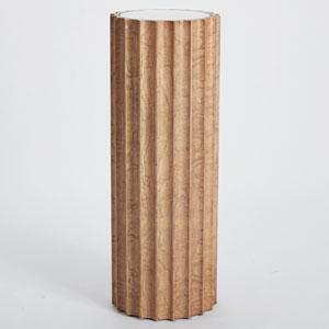 Reflective Olive Ash Burl Column Pedestal