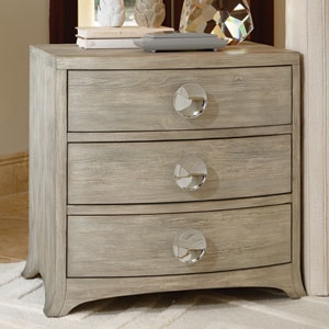 Bow Front Three-Drawer Grey Chest