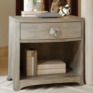 Bow Front One-Drawer Grey Chest