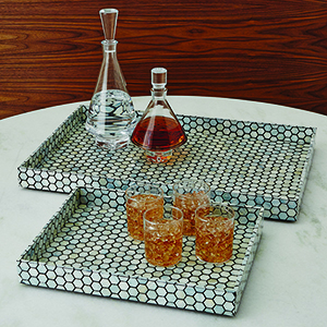 Mother of Pearl Black Small Tray