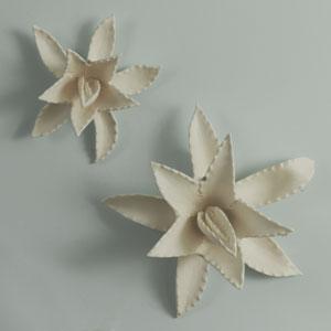 Agave Matte White Small Sculpture