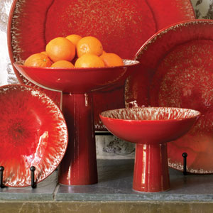 Red Zinger Large Footed Bowl