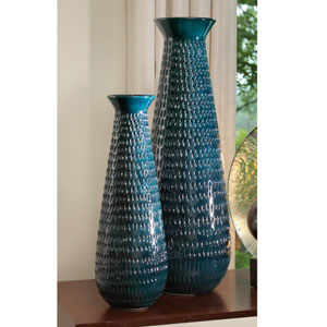 Cobalt Large Tall Graffiti Vase Only