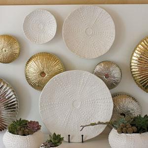 Ceramic Matte White Small Urchin Platter