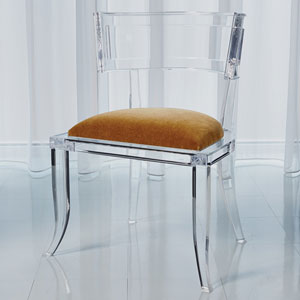Klismos Brown Sugar Acrylic Chair