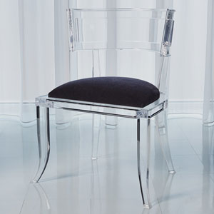 Klismos Black Acrylic Chair