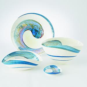 Ocean Swirl Large Bowl
