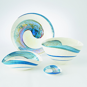 Ocean Swirl Medium Bowl