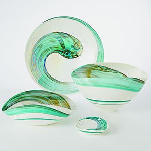 Aqua Swirl Large Bowl