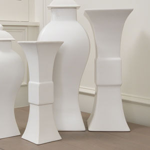 Williamsburg Matte White Large Garniture Vase Only
