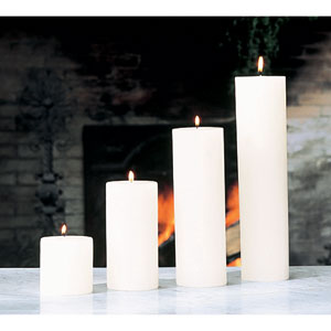 Unscented Pillar Candle - 4 x 10