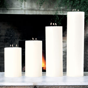 3-Wick Unscented Pillar Candle - 5 x 10