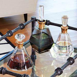Smoke Decanter with Gold Neck
