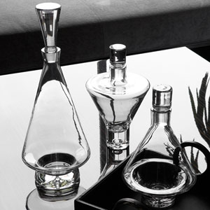 Clear Tall Fat Bottom Decanter Only