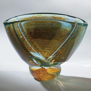 Blue Oval Pond Bowl