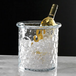 Clear Honeycomb Ice Bucket with Rolled Edge