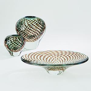 Aqua and Brown Organic Layer Bowl