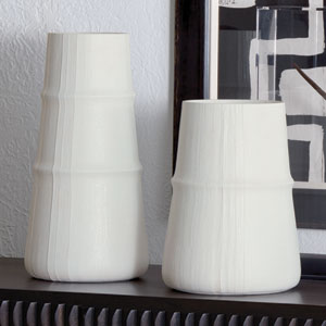 Studio A Linen Medium Soft White Vase