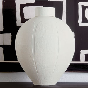 Studio A Linen Soft White Jar