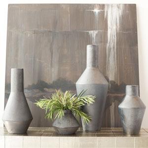 Studio A Graphite Squat Shaker Vase