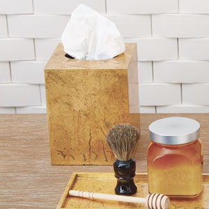 Studio A Luxe Gold Tissue Box