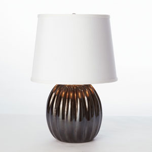 Studio A Mini Black Ribbed Glass Lamp
