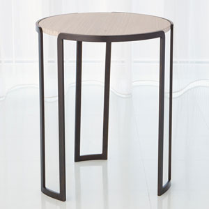 Studio A Bronze Channel Accent Table