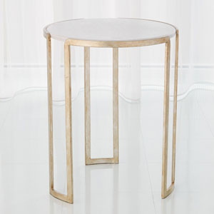 Studio A Silver Leaf Channel Accent Table