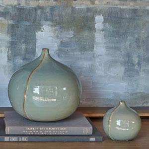 Studio A Small Milo Blue Vase
