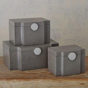 Studio A Small Serpentine Pebble Grey Box
